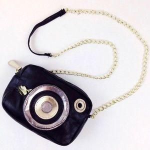 Betsey Johnson Camera Crossbody purse